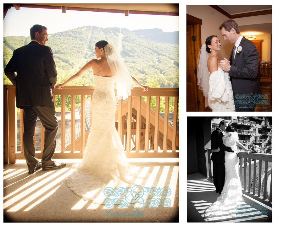 Kathleen Landwehrle Photography Proudly Presents Erica and Rob's Stowe Mountain Lodge Wedding.